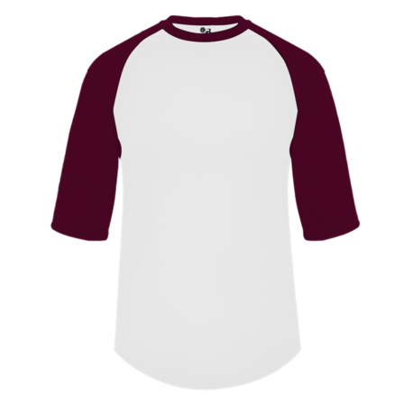 White/Maroon Baseball